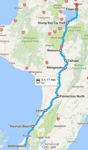 Wellington - Taupo (SH1) or Taranaki (SH3) Kids On Board
