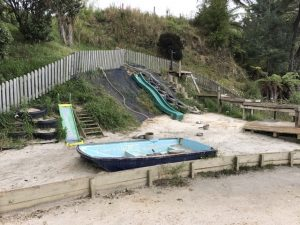 Salmon farm play area