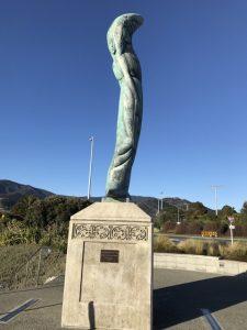 Statue near Maitai Rivermouth beach area Nelson