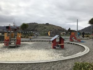 Lake Hayes Estate playground, cycle track and bike pump tracks, Near Queenstown Kids On Board